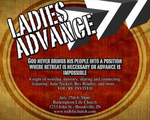 Ladies Advance evite